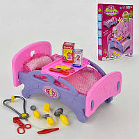 Кроватка для кукол Melobo голубая R183658