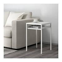 IKEA NYBODA Придиванный столик с двусторонней столешницей, белый / серый, 40x40x60 см, (603.426.42)
