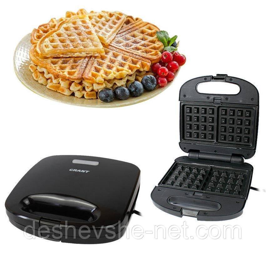 Гриль, бутербродница, вафельница Grant Gt-780, 800 Вт
