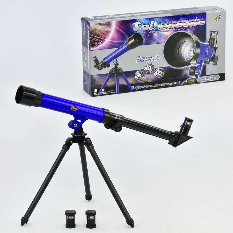 Телескоп С 2104 (24/2) на треноге, 3 набора линз, в кор-ке