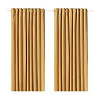 IKEA САНЕЛА Гардины, 1 пара, золотисто-коричневый, (304.189.02)