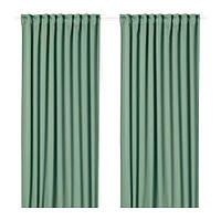 IKEA MAJGULL ПЛОТНЫЕ шторы, пара, зеленый, 145x300 см (404.177.99)