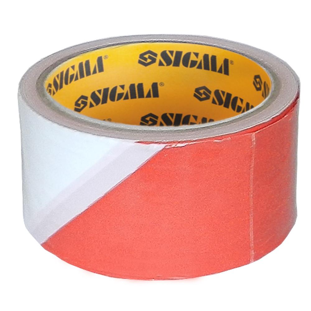 Лента сигнальная 50мм×50м Sigma (8423431)