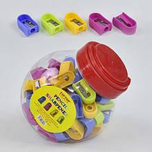 Точилка для олівців 0595 (4320) 4 кольори /ЦІНА ЗА 1ШТ/ 72шт в колбі
