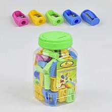 Точилка для олівців 0652 (5760) 4 кольори /ЦІНА ЗА 1ШТ/ 48шт в колбі