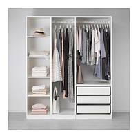 IKEA ПАКС Гардероб, белый, 175x58x201 см, (691.285.67)