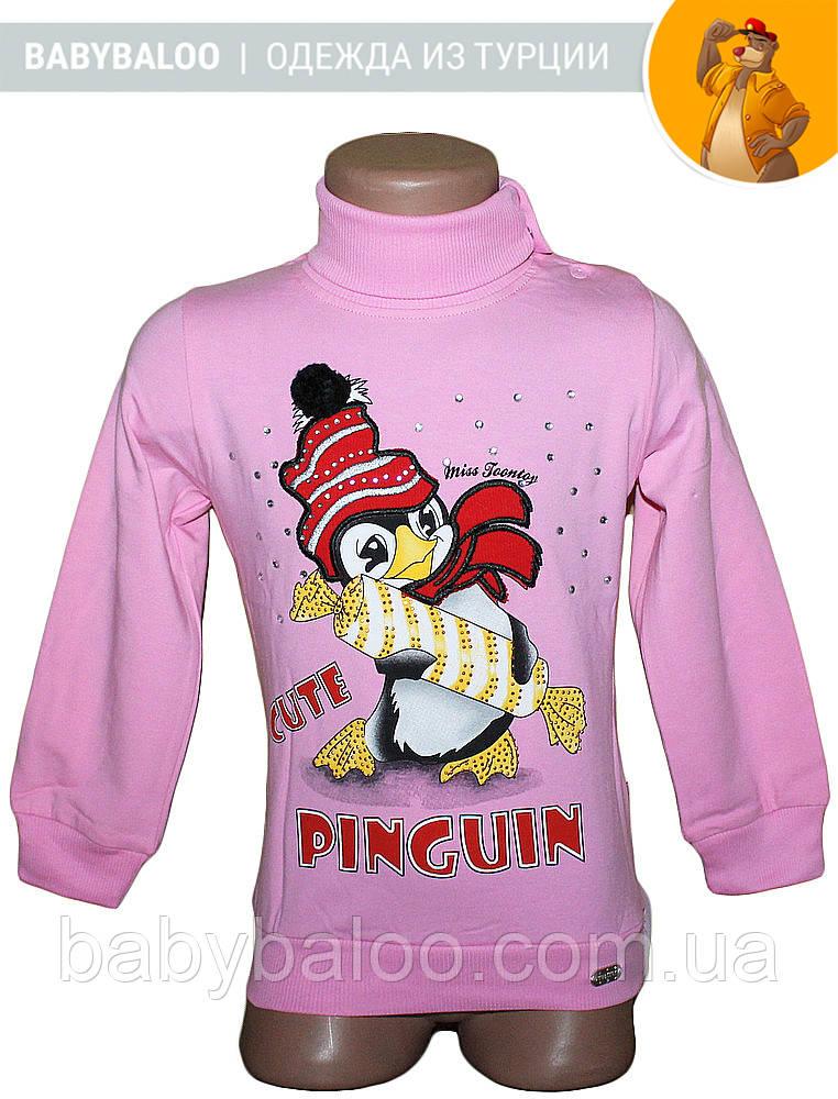 """Водолазка дитяча """"Пінгвін з цукеркою""""(від 1 до 4 років)начіс"""