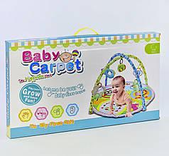 Коврик игровой для малыша с игрушками-подвесками, код 1850В