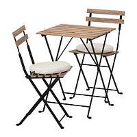 IKEA ТЭРНО Стол+2 стула, д/сада, серо-коричневый, Frösön / Duvholmen бежевый, (592.708.63)