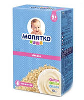 Новинки  Каша Малятко овсяная безмолочная сухая быстрорастворимая, с витаминами и минералами, с 6 мес. 200 г