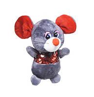 Мягкая игрушка Мышка в кофточке из пайеток (тёмно-серая)
