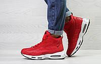Женские зимние кроссовки на меху в стиле Nike 95, красные 36 (23 см)