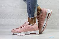Женские зимние кроссовки в стиле Nike 95, розовые 36 (23,8 см)