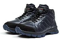 Мужские зимние ботинки на меху в стиле Northland Waterproof, тёмнo-cиние 42 (27,8 см)