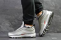 Мужские зимние кроссовки в стиле Nike 97, серебристые 45 (29 см)