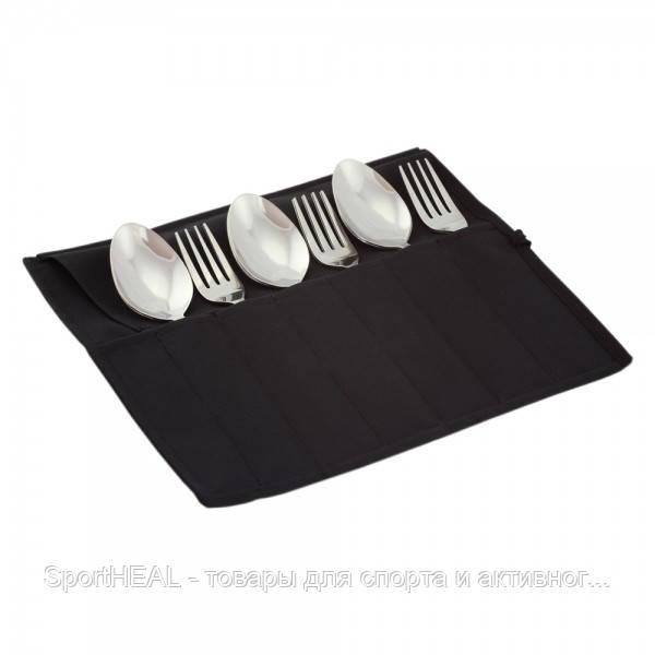 Туристический набор Champion  12 столовых предметов черный