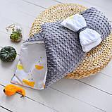 Двухсторонний конверт-одеяло  100х80см Минки для девочкек, фото 2