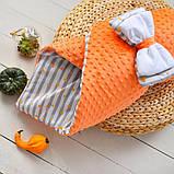 Двухсторонний конверт-одеяло  100х80см Минки для девочкек, фото 4