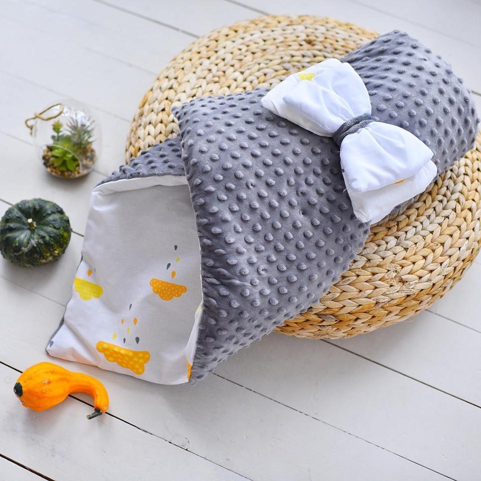 Конверт-одеяло  осень-весна 100х80 см Минки