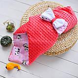 Конверт-одеяло  осень-весна 100х80 см Минки, фото 2