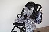 Плед с подушкой Cottonmoose Cotton Velvet 408/153/117 pantera gray cotton velvet gray (серый леопардовый с кремовым (бархат)), фото 2