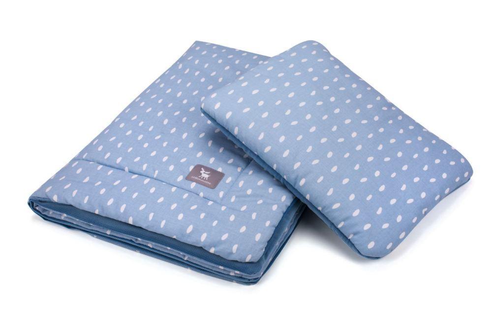Плед с подушкой Cottonmoose Cotton Velvet 408/131/120 rain azure cotton velvet azure (лазурный (капли) с голубым (бархат))