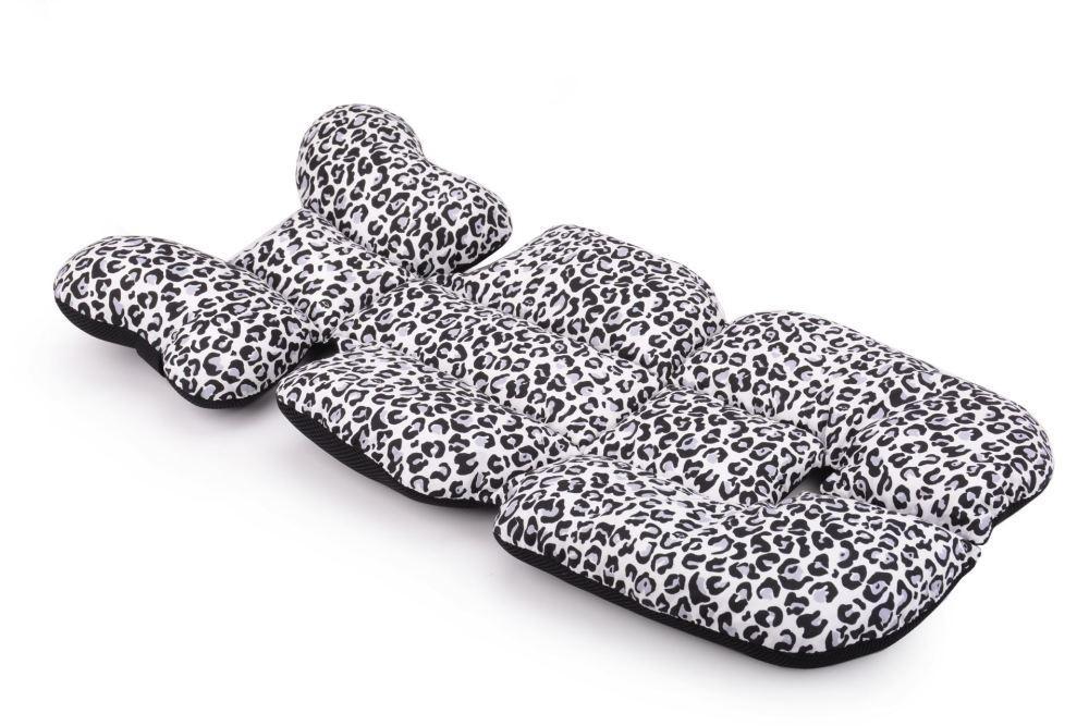 Матрас в коляску и автокресло Cottonmoose Air 828/153/101 pantera gray cotton (серый леопардовый)