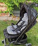 Матрас в коляску и автокресло Cottonmoose Air 828/153/101 pantera gray cotton (серый леопардовый), фото 3