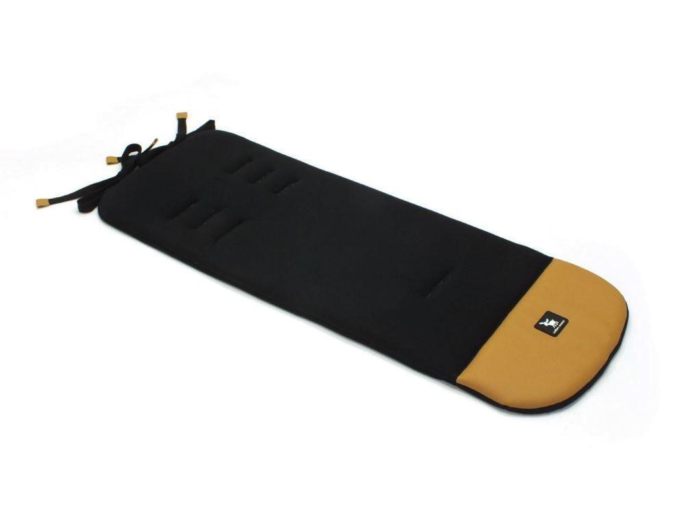 Матрас в коляску Cottonmoose Leather 590/127/107 black cotton jersey (черный, латте эко-кожа)