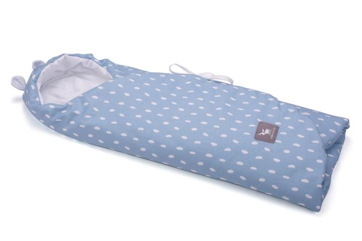 Конверт в коляску и автокресло Cottonmoose ODWF 439/131/51 rain azure cotton white cotton jersey (лазурный (капли) с белым)