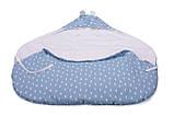Конверт в коляску и автокресло Cottonmoose ODWF 439/131/51 rain azure cotton white cotton jersey (лазурный (капли) с белым), фото 4