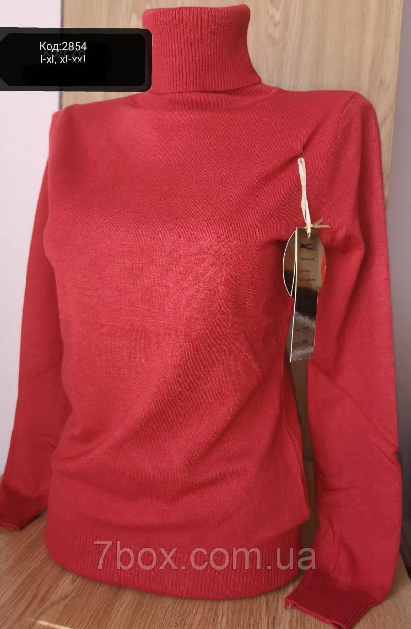 Гольф жіночий кашеміровий Мілано Ботал L/XL і XL/XXL Темний Теракот 2854
