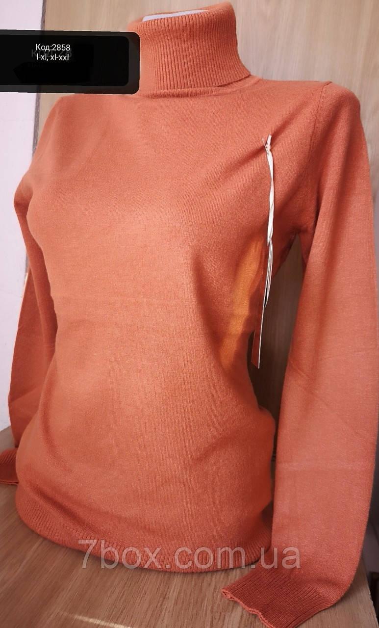 Гольф женский кашемировый Милано Ботал L/XL и XL/XXL Терракот 2858