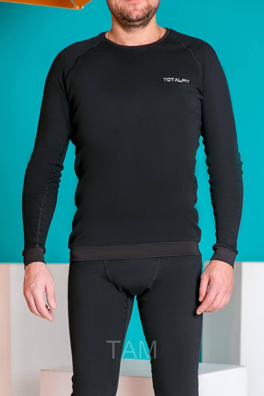 Супертеплая  мужская термофутболка Totalfit TMR1-VH10 L Черный