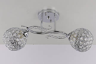Люстра стельова на 2 лампочки 7263/2A-ch Хром 22х16х47 див.
