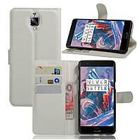 Чехол-книжка Litchie Wallet для OnePlus 3 / 3T Белый