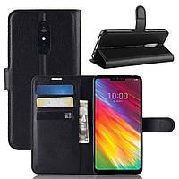 Чехол-книжка Litchie Wallet для LG G7 Fit Черный