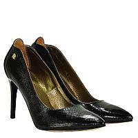 Туфли La Rose 925 36(23,5см ) Черный лак рептилия