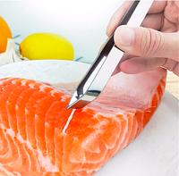 Пинцет для удаление костей из рыбы скошенный - 120 мм