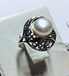 Колечко с белым жемчугом в серебре Шарлота, фото 2