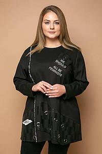 Туника с люверсами ТОМА черная #O/V
