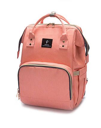 Сумка-рюкзак MomBag мультифункциональный органайзер для мамы Розовый (nri-2039), фото 2