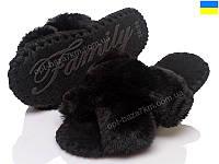 Тапки женские Prime-Opt Family 8093-КРЕСТИК черн (36-41) - купить оптом на 7км в одессе