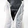 Бахилы для обуви от дождя снега грязи 2Life XL многоразовые с молнией и шнурком-утяжкой Белые (nr1-392), фото 4