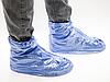 Бахилы для обуви от дождя снега грязи 2Life XL многоразовые с молнией и шнурком-утяжкой Голубые (nr1-393), фото 5