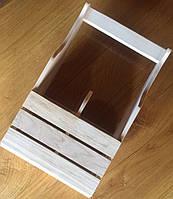 Деревянный ящик под две бутылки.