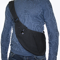 Сумка-мессенджер через плечо 2Life Crossbody 3 Темно-серый (nr1-411), фото 2