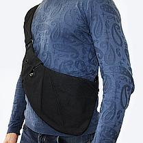 Сумка-мессенджер через плечо 2Life Crossbody 3 Темно-серый (nr1-411), фото 3