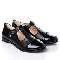 Туфли La Rose 2182 36(23,8см) Черная кожа лак