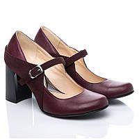 Туфли La Rose 2189 36(24см) Бордовая кожа